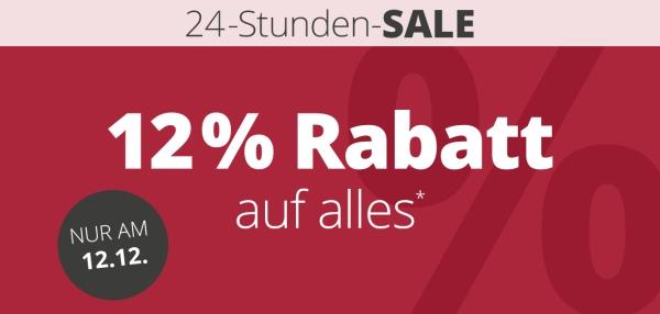 24 Stunden Sale Nur Heute 12 Prozent Rabatt Auf Das Komplette