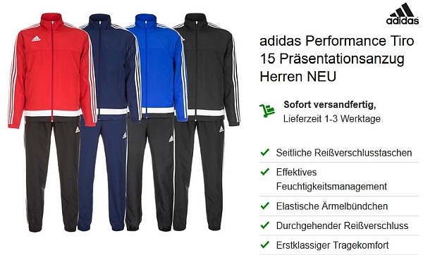 Ebay WOW Schnäppchen: Adidas Performance Tiro 15