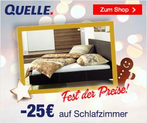 Fest der Preise: Nur bis 6. Dezember 25 Euro Rabatt bei Quelle auf ...